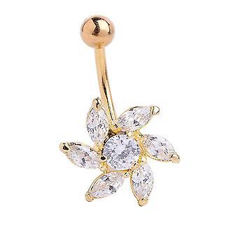Navle piercing ring navle ringe blomst navlespænde mavedans tilbehør