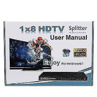 HDMI splitter 1 ingang 8 uitgang, ondersteuning 4k * 2k 1080P, voor vergadering, theater, kantoor