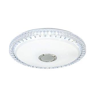 Plafonio a LED 36W plafonibile con telecomando Altoparlante Bluetooth COLORE RGB cambio soggiorno luce dimmable APP controllare la luce della stanza dei bambini 2700-6500K IP44 soggiorno camera per bambini (Bianco)