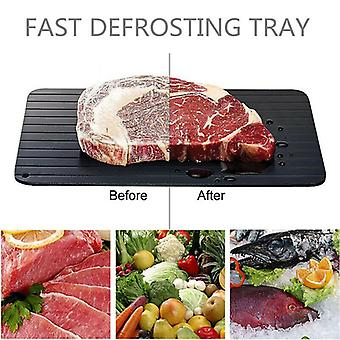Defrosting Tray Draws Cold From Fozen Food in Minutes Non-Stick Surface for Meat