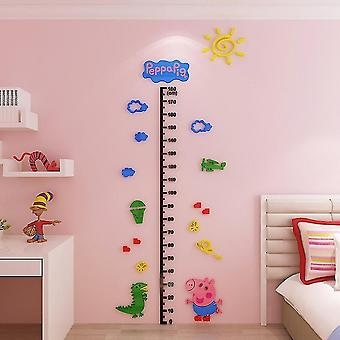 Christmas 3d Acrylic Wall Stickers Mirror Wall Decal Posters Diy Height Stickers Mural Home Dcor