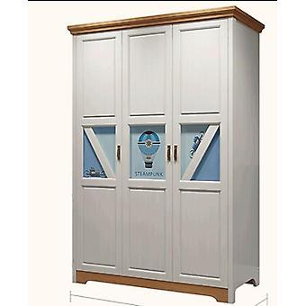 3-дверная деревянная спальня для подростков, шкаф Nordic Modern, шкаф для хранения