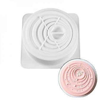 Large Silicone Cake Mold, Baking Tools, Bakeware, Vortex Shaped Round Decoration, 3d Frying Pan, Not Sticky