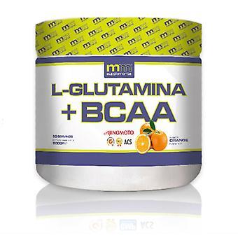 L-Glutamine + BCAA MM Supplements Orange (500 gr)