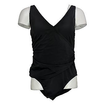 Colleen Lopez Swimsuit One Piece Colorblock Slim Suit Black 735610