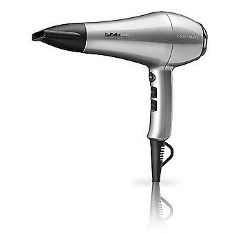 Babyliss Pro Powerlite 1900W Lightweight LHT Silver Salon hårtørker-BAB5589U