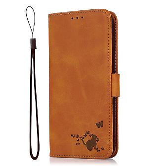 Case For Samsung Galaxy S10 Plus Wallet Flip Pu Leather Cover Card Holder Coque Etui - Yellow Cat