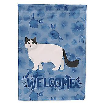 Flags windsocks carolines treasures ck4956chf ragamuffin #1 cat welcome flag canvas house size