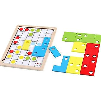 Wooden blocks fun wooden building blocks toys early learning educational toys jigsaw logic thinking memory game