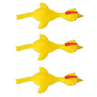Magic novelties 6 pcs/set soft tpr finger catapult chick toy