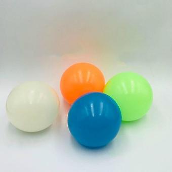弾むボール 45mm ルミネセント粘着性ボールの 4 個セット 天井の壁に投げ、子供のための押しつぶし