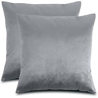 Pehmeät koristeelliset neliötyynykotelot Pakkaus 2 tyynynpäällinen 45 x 45 olohuoneeseen ja makuuhuone sohvatyyny harmaa