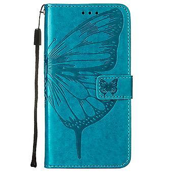Etui pour Motorola Moto G50 Flip Case Cover Premium Cuir Gaufrage Magnétique - Bleu