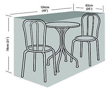 2 Seater Small Bistro Set Cover Waterproof Polyethylene