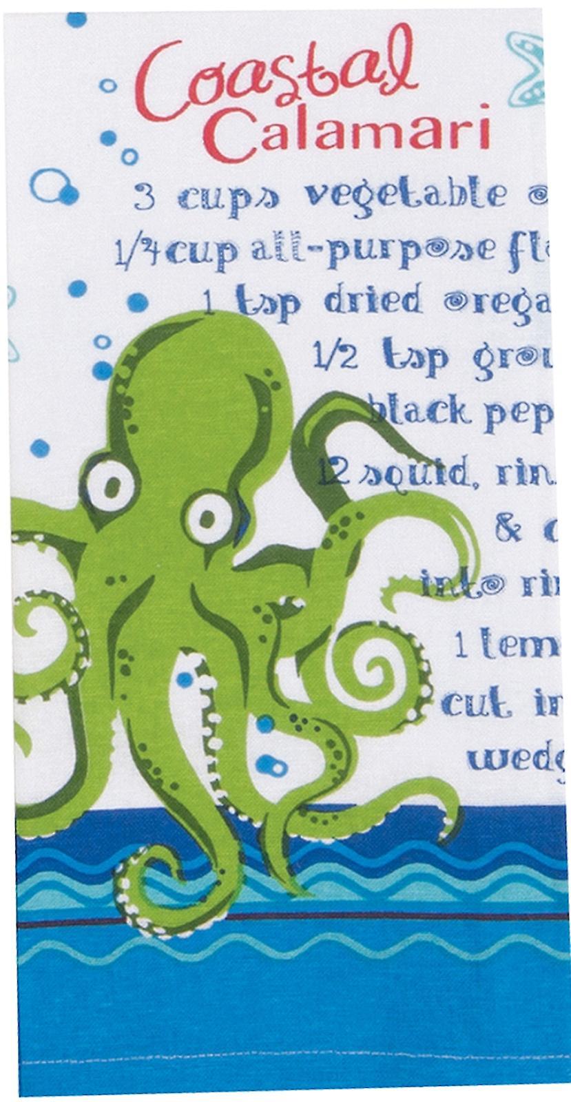 Coastal Calamari Recipe Flour Sack 27 Inch Kitchen Dish Towel Kay Dee