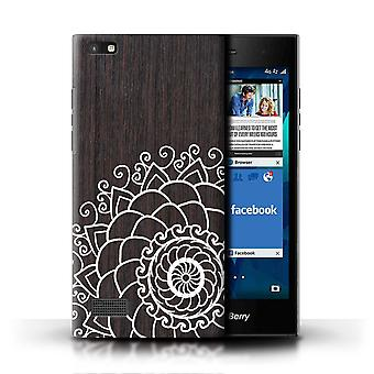 STUFF4 Phone Case/Cover for Blackberry Leap / Walnut Henna Design / Fine Lace Wood Collection