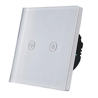 Переключении LumoS роскошь белого стекла панель касания удаленного электронных занавес & жалюзи