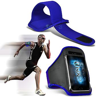 Huawei Honor 5X Fitness Running Jogging Cycling Gym Armband Holder Case Cover (Blue)