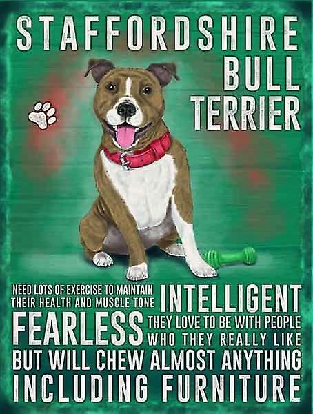 Medium Wall Plaque 200mm x 150mm - Staffordshire Bull Terrier