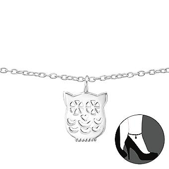 Owl-925 Sterling Silver anklets-W35070X