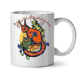 Driving Me Nuts NEW White Tea Coffee Ceramic Mug 11 oz | Wellcoda