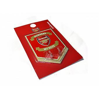 Arsenal FC piłce nożnej metalowy klucz wisi znak