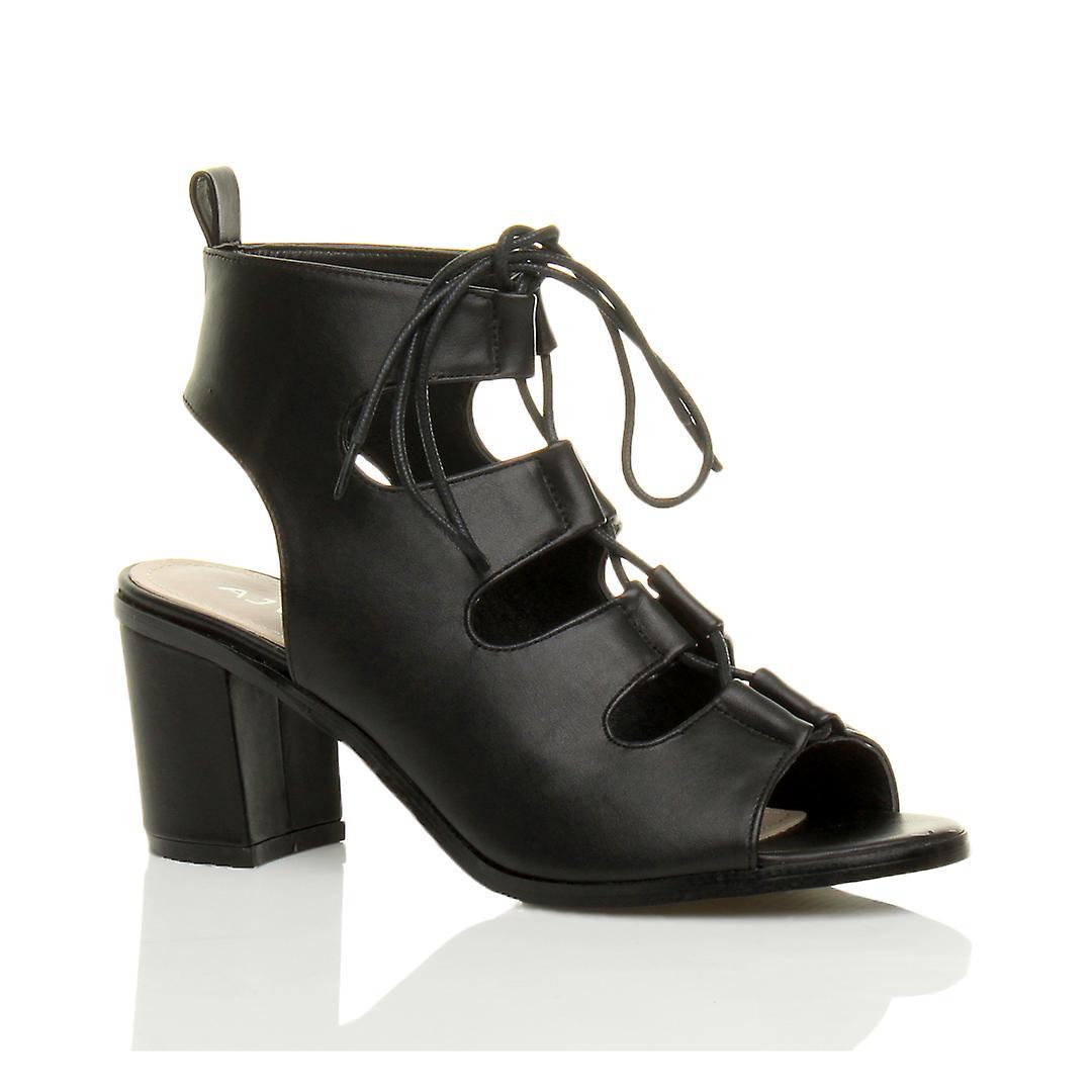 Ajvani womens mid low heel cut out