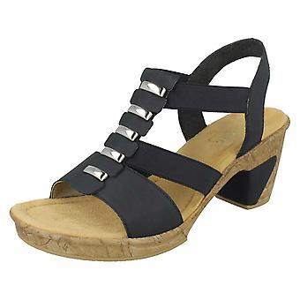 Las señoras Rieker elegante tacón sandalias 69792