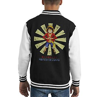 Monkey D Luffy Retro Japanese One Piece Kid's Varsity Jacket