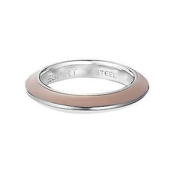 ESPRIT women's ring stainless steel Marin 68 beige / white ESRG11564B