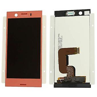 Sony display LCD complete unit for Xperia XZ1 compact G8441 Pink / Pink spare parts new