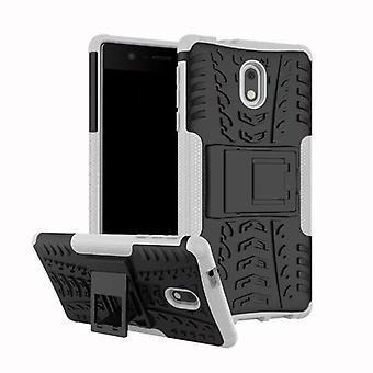 Morceau de cas 2 hybride blanc extérieur SWL pour Nokia 2 accessoires sac Housse Etui protection