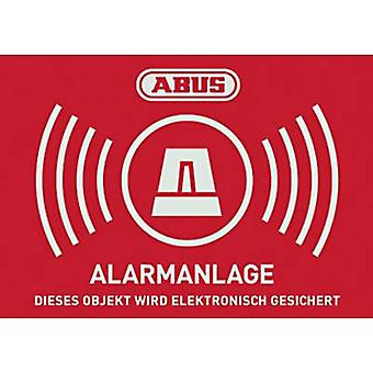 ABUS AU1423 Warning label Alarm secured Languages German (W x H) 74 mm x 52.5 mm