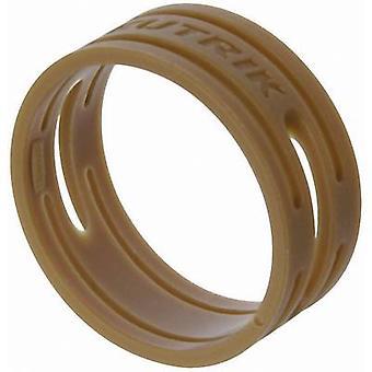 Neutrik XXR-SET-1 ID ring Brown 10 pc (r)