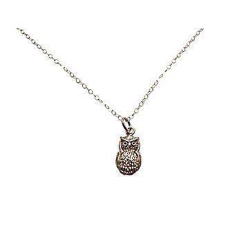 Gemshine - damer - halsband - hänge - brons - guld pläterad - eagle-owl - 2 cm