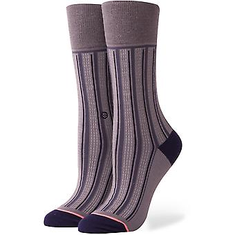 Stance Stripe Down Crew Socks in Charcoal