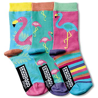 United Oddsocks 3 Flamingo Bright Kid's Socks