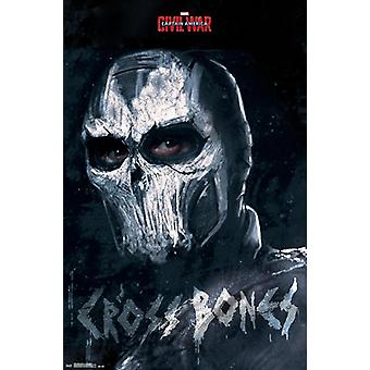Captain America posters civil war, cross bones