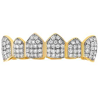 Top Grillz - gold silver - one size fits all CUBIC ZIRCONIA