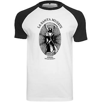 Merchcode shirt - Santa Muerte Raglan white