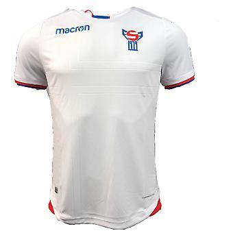 2018 - 2019 Färöarna hem Macron fotbollströja