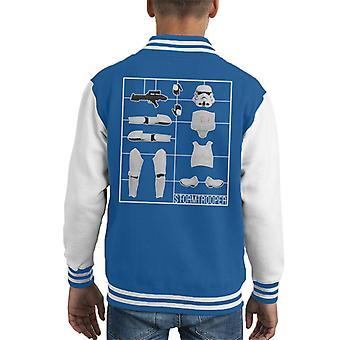 Opprinnelige Stormtrooper Airfix barneklubb Varsity jakke