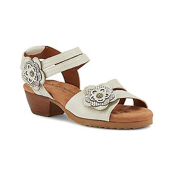 Walking Cradles Womens Charlotte Leather Open Toe Casual Slingback Sandals