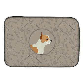 Carolines skatter CK2177DDM Chihuahua i kök skålen torkning matta