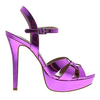 Steve Madden Womens Kaiden sandali con tacco alla caviglia cinturino Open Toe fibbia piattaforma