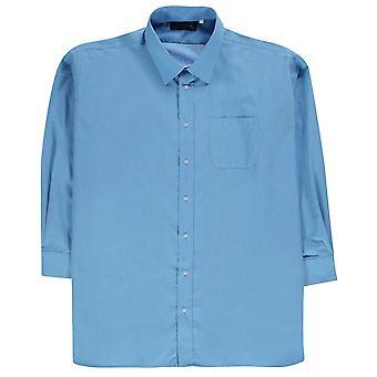 Jonathon Charles Mens 7187 Long Sleeve Shirt Chest Pocket Fold Down Collar