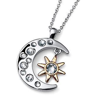 Oliver Weber Pendant Luna Rhodium/Gold Crystal
