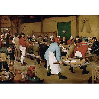 Fête du mariage paysan, Pieter Bruegel l'Ancien, 60x40cm