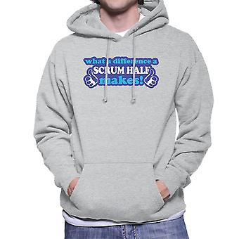 What A Difference A Scrum Half Makes Men's Hooded Sweatshirt