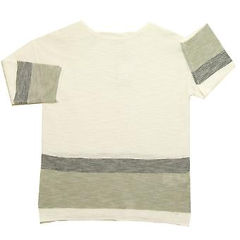 OLSEN Sweater 11002627 Ivory With Grey